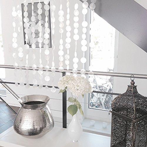Muschelvorhang - echte Capiz-Muschelscheiben als Raumteiler, Türvorhang, ca. 80 x 190 cm