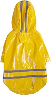 PET GOO Dog Raincoat Waterproof Cloak All-Inclusive Pet Hooded Raincoat