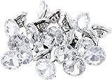 ROSENICE 25mm Coser Botones de Tapicería de Cristal de Diamantes Clavos de Pared Decoración del Sofá 20 Unids