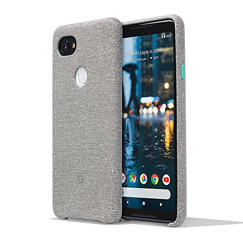 Google Pixel 2 XL Phone Case Cover Tailored Fabric Active Edge Compatible - Cement