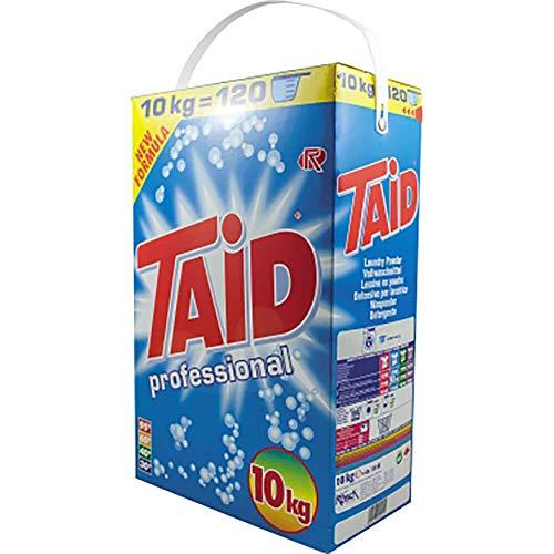 TAID Professional Vollwaschmittel Pulver 10 kg | ca. 120 Waschladungen | Universal Waschpulver für alle Arten von Gewebe & Wasserhärten geeignet | Korrusionschutz durch neue Formel