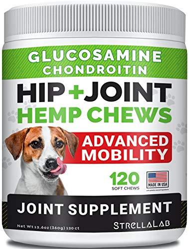 Hemp Treats - Glucosamine Dog Joint Supplement + Omega 3 - w/Hemp Oil...