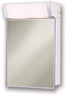 Jensen 555IL Lighted Medicine Cabinet, Stainless Steel, 16-Inch by 24-Inch