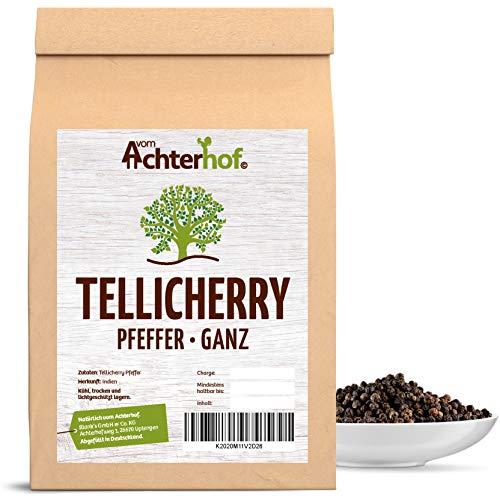 500 g Tellicherry Pfeffer schwarz ganz Premiumqualität aus Indien natürlich vom-Achterhof Pfefferkörner