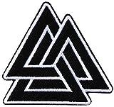 ecusson Breton Bretagne Triangle Viking Odin celte Celtic Breizh Biker 7x7cm patche Insigne