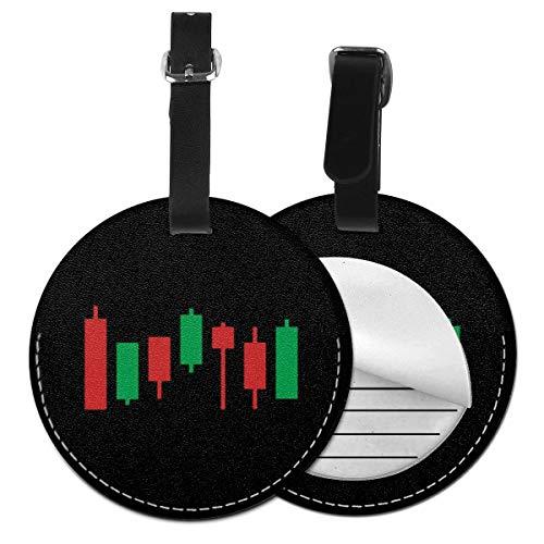 Kofferanhänger PU Leder Forex Market Trader finanzieren Geld, Gepäckanhänger ID Etikett Mit Adressschild Namenschild für Reisetasche Koffer