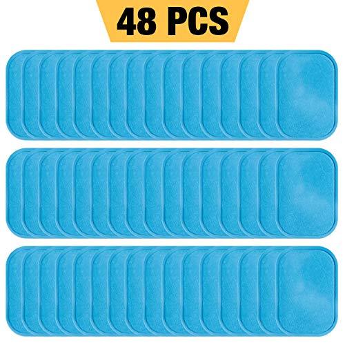 ZITFRI 48 Parches de Gel Pad de la Alta Cantidad para Electroestimulador EMS Almohadilla de Gel ABS para Electroestimulador Muscular EMS Belt (2 Piezas / Bolsa, 24 Bolsas / Caja)