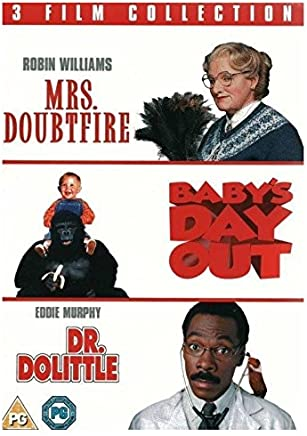 Babys Day Out Dr Dolittle Mrs Doubtfire 3 Film Triple DVD Collection