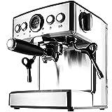 LZHYA Cafeteras para Espresso,Potencia: 1150W, Extracción, 2.1L, Bomba De 19 Bar Acero Inoxidable, Cafetera Semiautomatica, Cafetera Espresso, Cafetera Expresso Y Capuccino