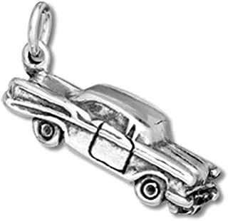 Sterling Silver Hot Rod Classic Antique Car Charm Item #9425