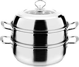 DIAOD Double Bottom Steamer Stainless Steel Thick Double Bottom Multi-purpose Soup Pot Steamer