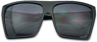 BLACK Oversized Large XL Big Sunglasses Kim Square Flat Aviator Mens Womens Matte Black