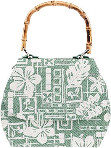 Küstenluder Damen Tasche Gwen Bambus Vintage Handtasche Grün
