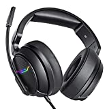 Xbox one Headset, PS4 Headset, Gaming Headphones, 3.5mm Surround Stereo Gaming Headsets with Mic Soft Memory Earmuffs for PC, Laptop, Video Game with Flexible Microphone Volume Control