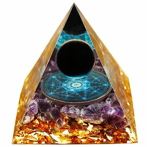 Orgonite Pyramids Obsidian&Amethyst Nubian Orgone...