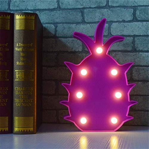 MTX Ltd Lumière de Nuit Créatif Décoratif Forme D'Ananas Lampe de Table Enfant Mignon Chambre de Bébé Alimentation de Baleine Nuit Lumière