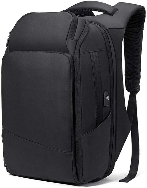 Backpack Large Capacity Men's MultiFunction Storage Backpack Computer Bag AntiTheft Backpack Business Bag, Waterproof Black Travel Bag