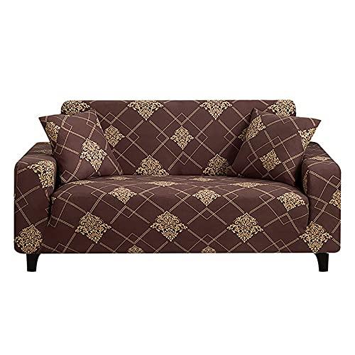 Funda de sofá Cama sin reposabrazos Fundas de Asiento Plegables Funda elástica Protector de sofá Banqueta elástica Fundas de futón Modern A19 4 plazas