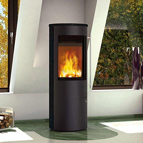 Olsberg O2359792100 Kaminofen Tacora Compact Keramik Black-Wood mit Stangengriff