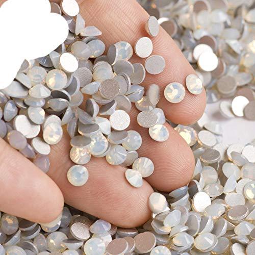 OQQE 2058NOHF Flatback Todos los tamaños Crystal Rhinestones Piedras Ropa de uñas para Costura DIY Manualidades Decoración Gemas