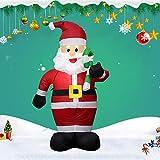 CYYMY 1.2M Weihnachten Aufblasbar Krücken Weihnachtsmann Vater mit LED Beleuchtung Passend für Weihnachten Party Zuhause Garten Rasen Dekoration