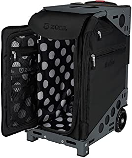 ZUCA Oxford Pro Artist Bag in Frame with Built-in Seat, with Set of 5 Stacking Packing Pouches (Choose Your Color)