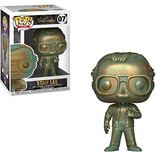 Stan Lee [Patina]: Funko POP! Icons Vinyl Figure & 1 POP! Compatible PET Plastic Graphical Protector Bundle [#007 / 40744 - B]