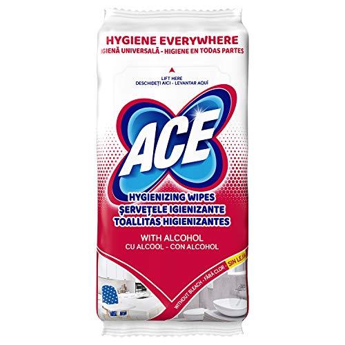 ACE Toallitas Limpiadoras con Alcohol, 90 G