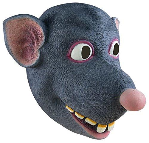 P'tit Clown - Máscara de adulto de látex integral para ratón, unisex, 13106, talla única