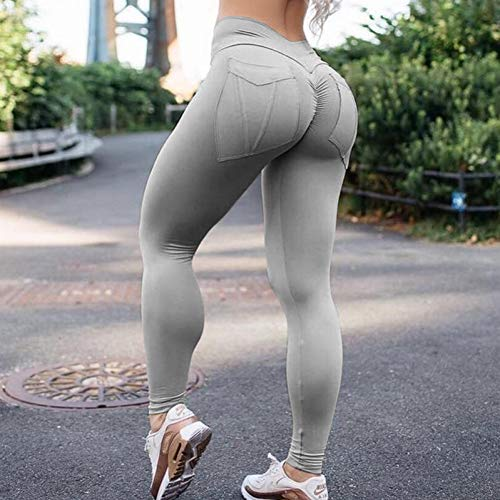 CKUZI 3D-Druck Yoga-HosenFrauen Fitness Leggings Hohe Taille Push Up Leggings Solide Tasche Workout Leggings Mujer 7Color