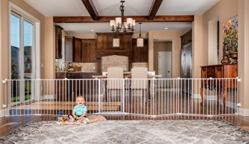 Regalo 192-Inch Super Wide Adjustable Baby Gate and Play Yard, 4-In-1, Bonus...