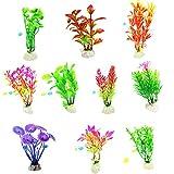 Flores artificiales para decoración, 10 unidades/set de plantas de agua simulación no se decolora, decoración de plástico falso tanque de peces para acuario – 2