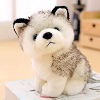 WULINCUN Realistic 3D simulation husky dog plush toys stuffed animal toys for children soft adorable doll cute pet wolf ...