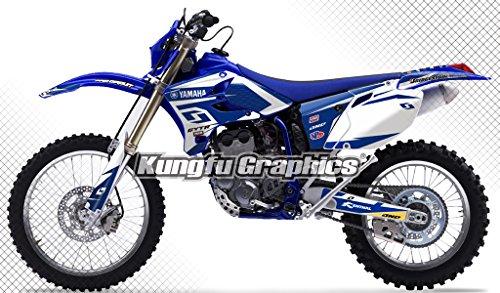 Kungfu Graphics Custom Decal Kit for Yamaha WR250F WR450F 2005 2006, Blue White
