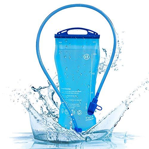 CYSJ Vescica per idratazione 2 Litri Sacchetto dell'Acqua Portatile Sistema di Idratazione per Ciclismo a Prova di perdite per Escursionismo, Campeggio, Corsa, Ciclismo (Blu)
