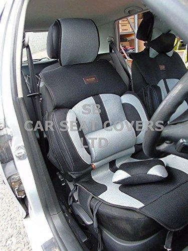 R – Adecuado para Mitsubishi i-MiEV coche, fundas de asiento, malla de aire para deportes BO-1 gri