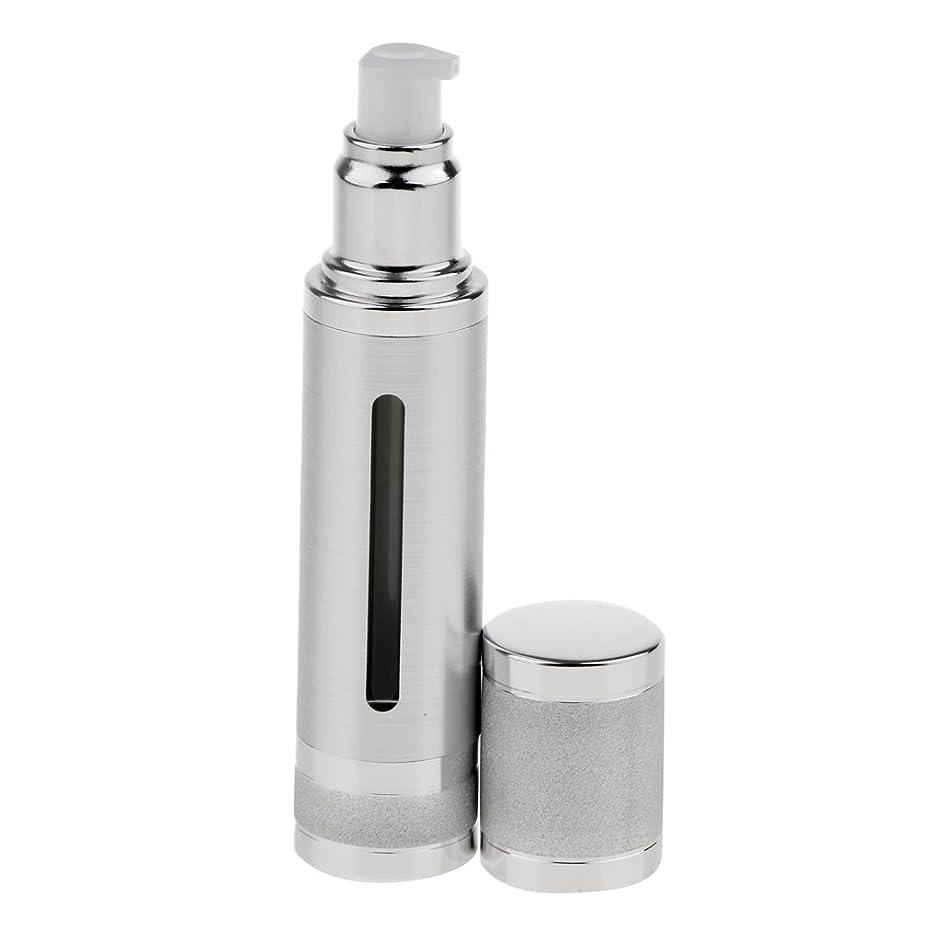 汚れる発見する有罪Kesoto エアレスボトル 50ml エアレス ポンプボトル ローション クリーム 化粧品 詰め替え可 容器 2色選べる - 銀