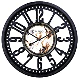 Bulova C4871 Station Master Wall Clock, Black