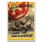 Star wars propaganda art, Storm trooper sacrifice, pop art