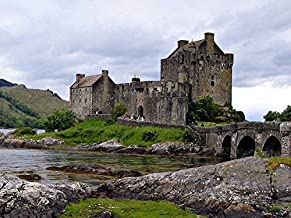 Eilean Donan Castle Scotland -Oil Painting On Canvas Modern Wall Art Pictures For Home..