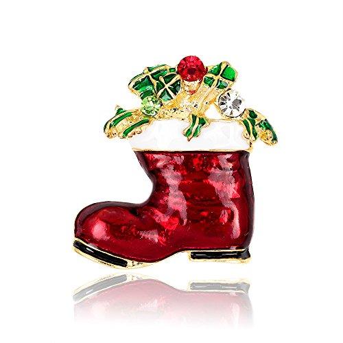 DODO.GOGO Mode Brosche Weihnachten Geschenk Schuhe Pinkleine Geschenk Brosche