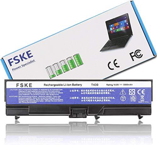 FSKE T430 Battery for Lenovo ThinkPad 42T4751 42T4755 51J0499 T410 T420 T430I T530I T520 W530 T510 W530I Edge E420 SL410 K SL510 L421 L512 L520 L510 Notebook 5000mAh 10.8V Laptop Batteries