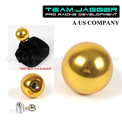 EpandaHouse Made for Mazda! M10 Threaded! USA Round Heavy Aluminum Metal Manual Gear Stick Shift Knob Gold