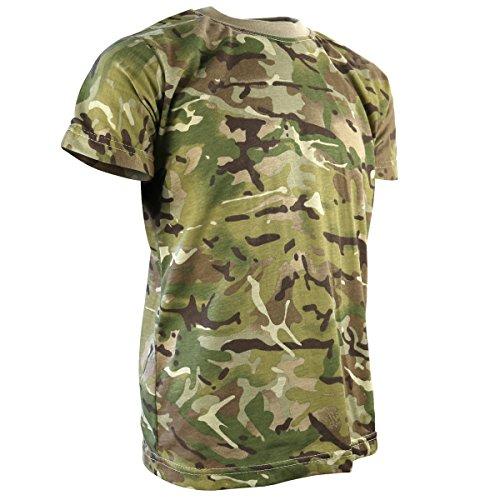 Kombat UK Enfant T-Shirt pour Homme Motif Camouflage 4 Ans British Terrain Pattern