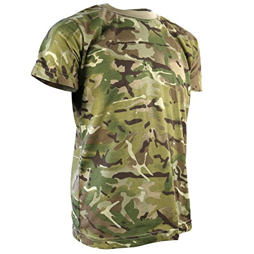Kombat UK Kinder Camo T-Shirt, Kinder, Camo, British Terrain Pattern, 9-11 Years