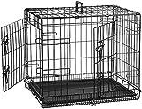 AmazonBasics Cage pliante en métal avec 2portes pour chien - 61 cm