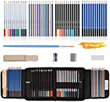 YISSVIC 53PCS Coloured Pencils Set Sketching Pencils Set for Artist Includes Watercolor Metallic