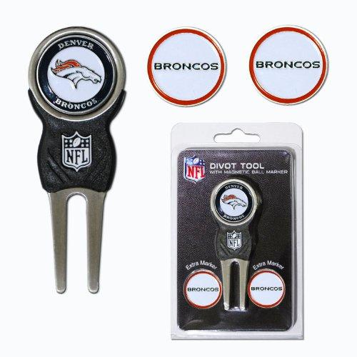 NFL Denver Broncos Signature Divot Tool and 2 Extra Markers
