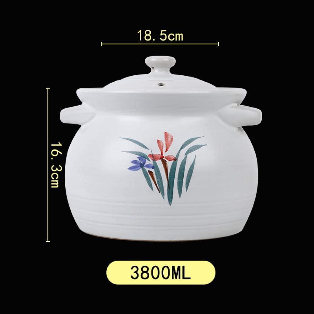Casserole d'argile pot d'argile casserole - haute température résistant à la sécurité et ferme - 4800 ml 1yess (Color : 4800ml) 3800ml