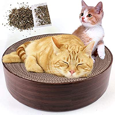 Amazon - 50% Off on  Cat Scratcher Cardboard Recycle Corrugated Cat Scratching Lounge